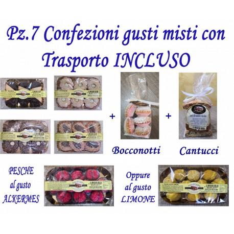 Pz.4+3 Confezioni dolci gusti misti con Trasporto INCLUSO