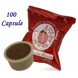 100 pz. CAPSULE CAFFE' BORBONE MISCELA ROSSA - Compatibile Espresso Point