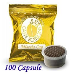 100 pz. CAPSULE CAFFE' BORBONE MISCELA ORO - Compatibile Espresso Point