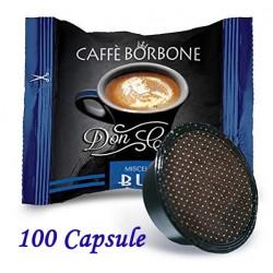 100 pz. CAPSULE CAFFE' BORBONE MISCELA BLU - Compatibile A MODO MIO