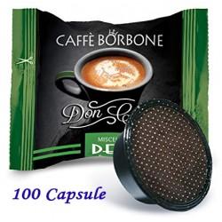 100 pz. CAPSULE CAFFE' BORBONE MISCELA DEK - Compatibile A MODO MIO