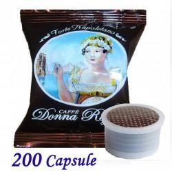 200 pz. CAPSULE CAFFE' BORBONE DONNA REGINA FORTE - Compatibile Espresso Point