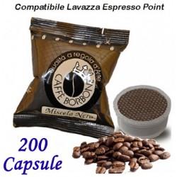 200 pz. CAPSULE CAFFE' BORBONE MISCELA NERA - Compatibile Espresso Point