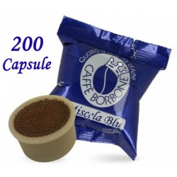 200 pz. CAPSULE CAFFE' BORBONE MISCELA BLU - Compatibile Espresso Point