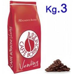 CAFFE' IN GRANI 3 KG BORBONE ROSSO VENDING-BAR-DISTR.AUT.
