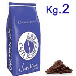 CAFFE' IN GRANI 2 KG BORBONE BLU VENDING-BAR-DISTR.AUT.
