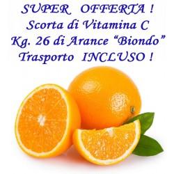 """Kg. 26 di Arance """"BIONDO"""" con TRASPORTO INCLUSO"""