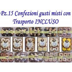 Pz.15 Confezioni di dolci gusti misti con Trasporto INCLUSO