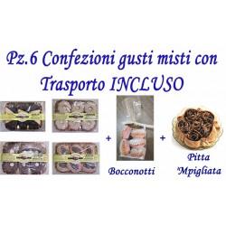 Pz.6 Confezioni di dolci gusti misti con Trasporto INCLUSO