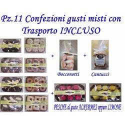 Pz.8+3 Confezioni dolci gusti misti con Trasporto INCLUSO