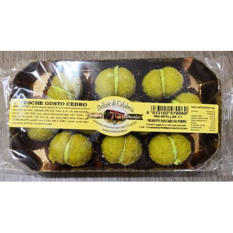 PESCHE al gusto CEDRO - 250 gr.