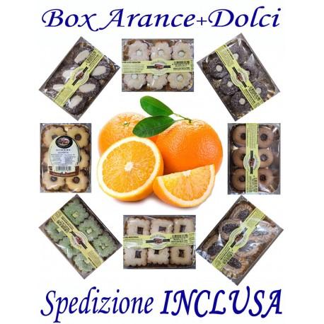 Box kg.9 di ARANCE + Pz.12 Confez. Dolci gusti misti con Trasporto INCLUSO