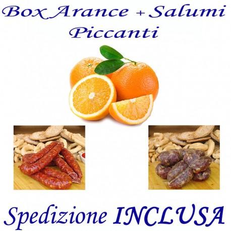 Box kg.9,5 di Arance + Salsiccia e Soppressata Piccante con Trasporto INCLUSO