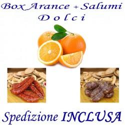 Box kg.9,5 di Arance + Salsiccia e Soppressata Dolci con Trasporto INCLUSO