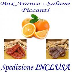 Box kg.15 di Arance + Salsiccia e Soppressata Piccante con Trasporto INCLUSO