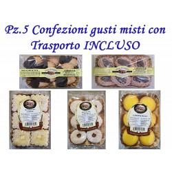 Pz.5 Confezioni di dolci gusti misti con Trasporto INCLUSO
