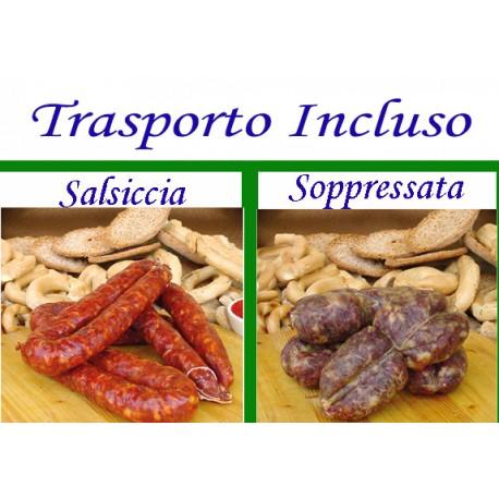 BOX Salsiccia e Soppressata DOLCE con Trasporto Incluso