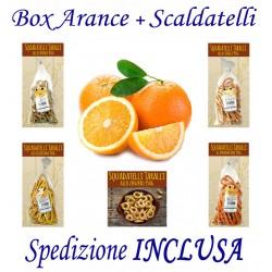 Box kg.12 di Arance + Pz.7 Confez. di SCALDATELLI gusti Misti con Trasporto INCLUSO