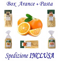 Box kg.10 di Arance + Pz.5 Confez. Pasta Formati Vari 500g Cad. - Trasporto INCLUSO