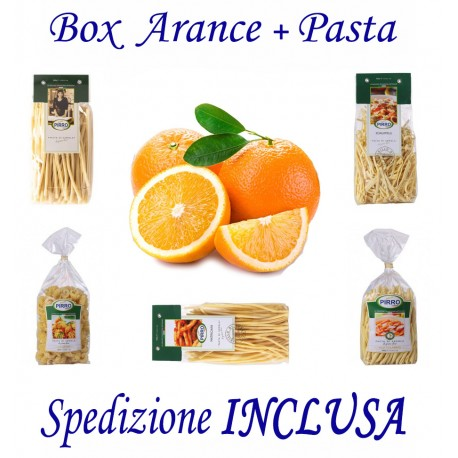 Box kg.12 di Arance + Pz.7 Confez. Pasta Formati Vari 500g Cad. - Trasporto INCLUSO