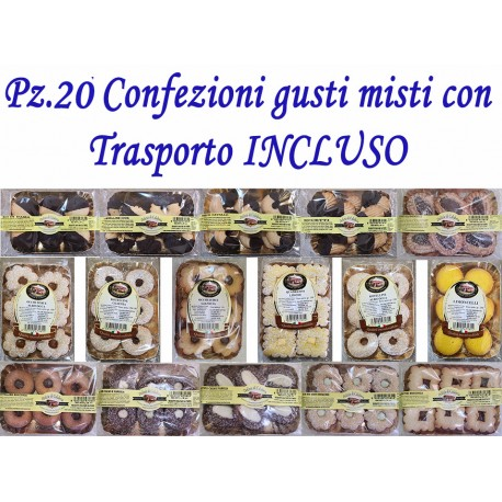 Pz.20 Confezioni di dolci gusti misti con Trasporto INCLUSO