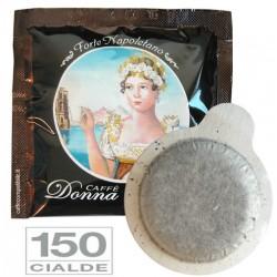 150 pz. CIALDA CAFFE' BORBONE DONNA REGINA FORTE - ESE 44 mm