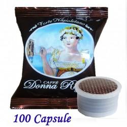 100 pz. CAPSULE CAFFE' BORBONE DONNA REGINA FORTE - Compatibile Espresso Point