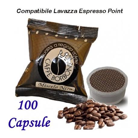 100 pz. CAPSULE CAFFE' BORBONE MISCELA NERA - Compatibile Espresso Point