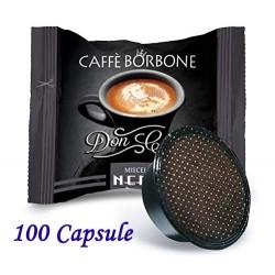 100 pz. CAPSULE CAFFE' BORBONE MISCELA NERA - Compatibile A MODO MIO