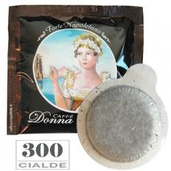 300 pz. CIALDA CAFFE' BORBONE DONNA REGINA FORTE - ESE 44 mm