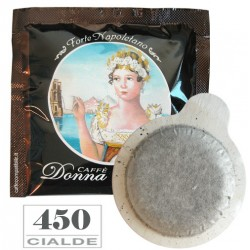 450 pz. CIALDA CAFFE' BORBONE DONNA REGINA FORTE - ESE 44 mm