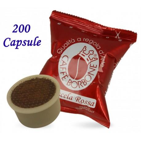 200 pz. CAPSULE CAFFE' BORBONE MISCELA ROSSA - Compatibile Espresso Point