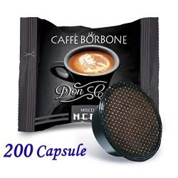 200 pz. CAPSULE CAFFE' BORBONE MISCELA NERA - Compatibile A MODO MIO