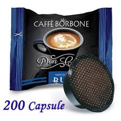 200 pz. CAPSULE CAFFE' BORBONE MISCELA BLU - Compatibile A MODO MIO