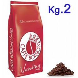 CAFFE' IN GRANI 2 KG BORBONE ROSSO VENDING-BAR-DISTR.AUT.