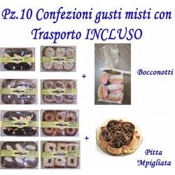 Pz.10 Confezioni di dolci gusti misti con Trasporto INCLUSO